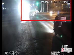 滑县小轿车与半挂相撞,火光四射!司机当场身亡!