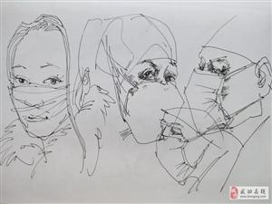 """艺术战""""疫"""":用绘画宣传抗""""疫"""",用艺术鼓舞人心 / 孙彬"""