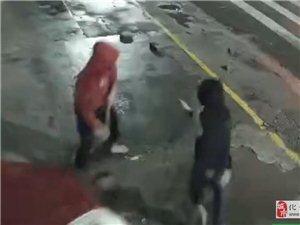 猖狂!化州5蒙面男子深夜开无牌皇冠车作案!打砸撬门!监控全拍下来了!