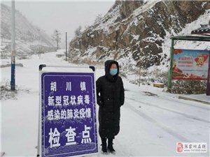 党旗在风雪中更鲜艳,为毫不松懈奋战在疫情一线的县政协马雪芳点赞