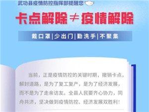 【温馨提醒】武功县疫情防控指挥部:卡点解除不等于疫情解除