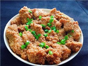 【美食分享】米粉蒸排骨:排骨香而不�,酥���骨,口感一