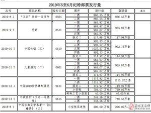 中国邮政:2019年5至6?#24405;?#29305;邮票发行?#25239;?#24067;!