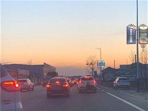 博兴县这个村堵车长达半小时!