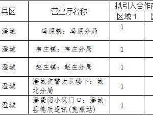 移动澄城分公司引商入柜业务合作招募公告