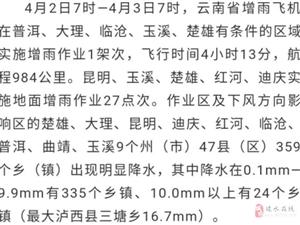 【气象】抓住有利天气!云南气象部门  实施人工增雨作业