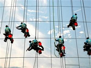 高空作业外墙玻璃幕