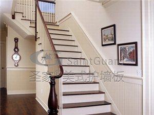 美国原装定尺生态木护墙板高分子木纹装饰板免漆欧式墙裙整体定制