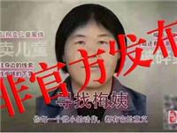 """注意!网传拐的""""梅姨""""第二张画像,非官方公布信息!请勿信谣传谣"""