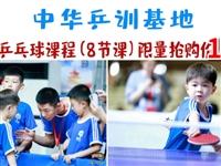 18.8元!!搶原價200元的中華乒訓乒乓球體驗課(8節)!手慢無!