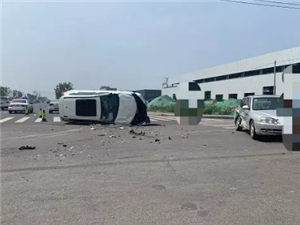 济阳永康街一路口两车相撞,出行请注意安全!