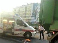 潢川七中转盘发生一起交通事故,大货车直接轧过男子...