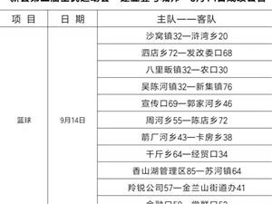 """新县第三届全民运动会""""建业壹号城邦""""9月14日成绩公告"""