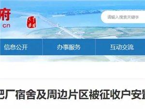 霍邱县原化肥厂宿舍及周边片区被征收户安置房交房公告