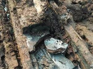 蓬溪白鹤林水库在建工地下惊现神秘物!
