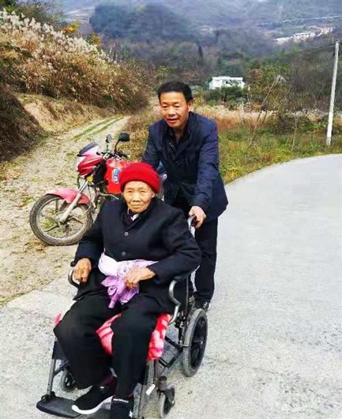 湖北长阳:黄柏山三兄弟轮椅推行近百里接晕车母亲进城安享晚年
