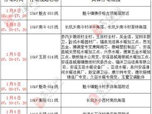 2019年1月5-6日计 划 的停 电 通 知