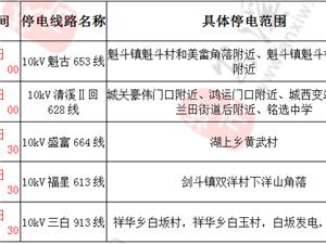 2019年1月13-15日计 划 的停 电 通 知