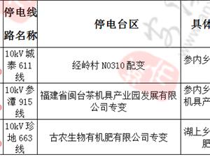 2019年1月7-9日计 划 的停 电 通 知
