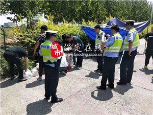 高速交警高阳大队查获一起涉嫌非法营运行为