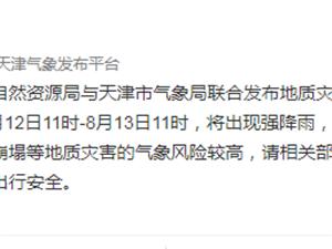 """利奇马""""三预警,大港郭庄子降雨量高达86.7毫米"""