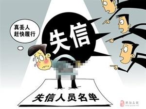 濮阳最新一批失信被执行人曝光!
