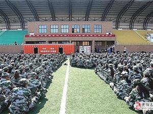 """濮阳消防走进市医学高等专科学校开展""""消防进军训""""活动"""