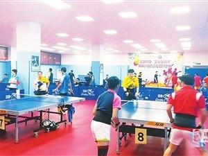 """""""超越锐翔杯""""乒乓球比赛在珠海市举行 众多民间明星球员参赛"""
