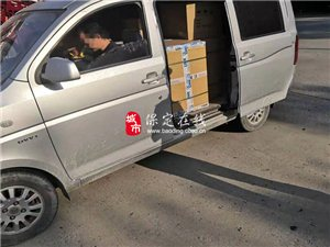 客户端交警高阳大队查处一起小型客车客货混装的违法行为