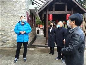 �h中市文化和旅游局局�L王耀一行�ш��h江源景�^�z查工作