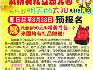 凤翔县私立幼儿园即日起预报名,赠送代金券50元和精美书包一个