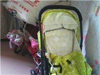 几乎没用过的婴儿推车、小自行车
