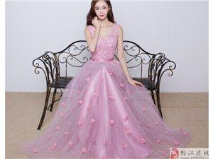出租訂婚禮服長款新娘結婚晚禮服長裙女夏伴娘服敬酒服