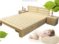 实木双人床架出售