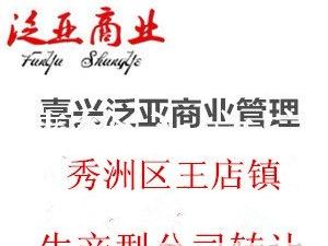 嘉兴市秀洲区王店镇现有生产型公司转让廉价放心