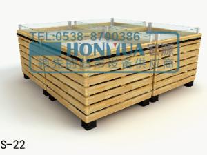泰安木制貨架廠家木制百貨架生鮮貨架水果木制貨架