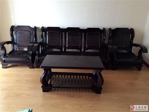 纯木沙发椅一套