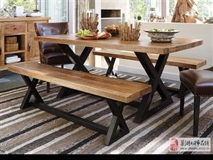 直销星巴克铁艺实木桌椅酒吧咖啡厅奶茶店靠背餐桌椅