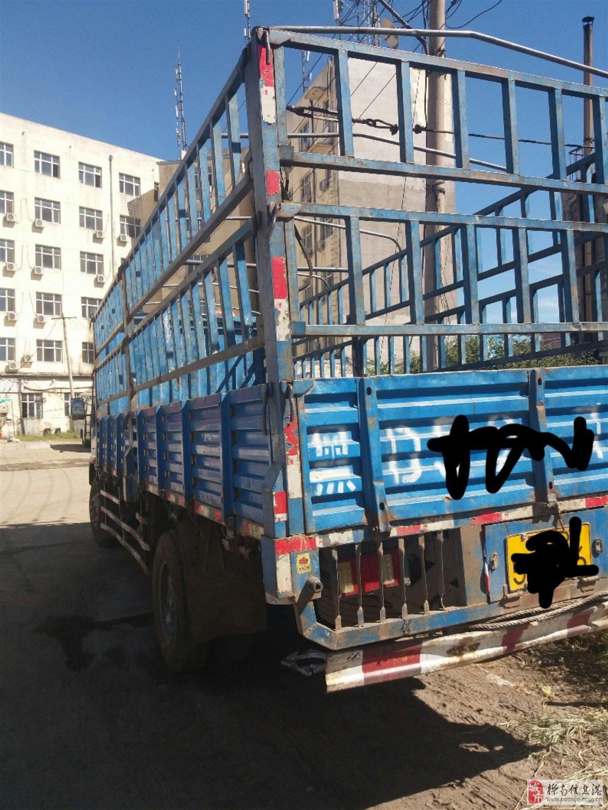 卖10年6.4米大箱东风多利卡高栏手续