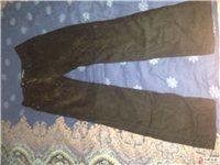 转让九成新黑色休闲裤一条