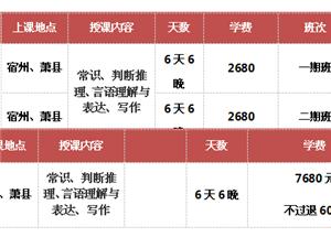 2016宿州事业单位笔试培训班