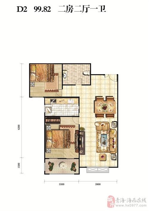 二房二厅一卫99.82�O