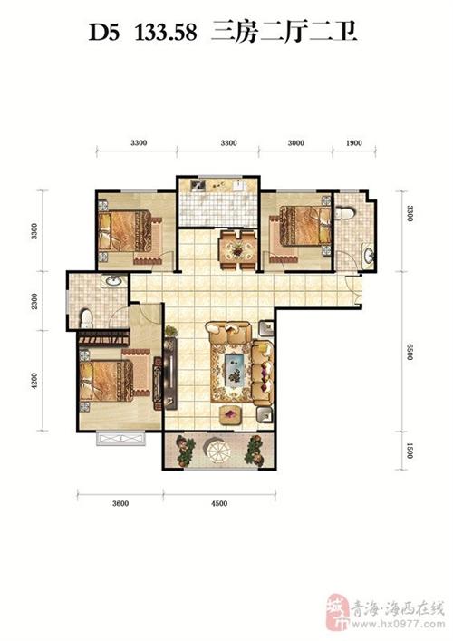 三房二厅二卫133.58�O