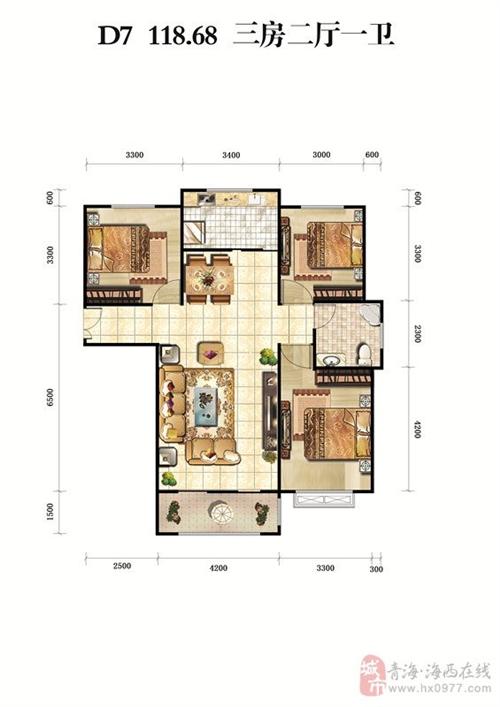 三房二厅一卫118.68�O