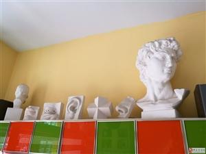 石膏几何形体一套,大卫一个,头骨一个,五官一套