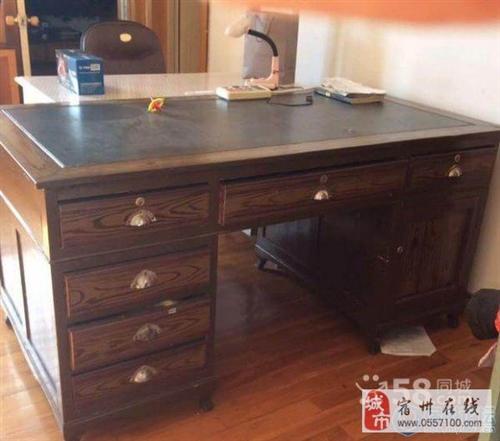 收一个二手书桌,带两个抽屉带个小柜子的那种