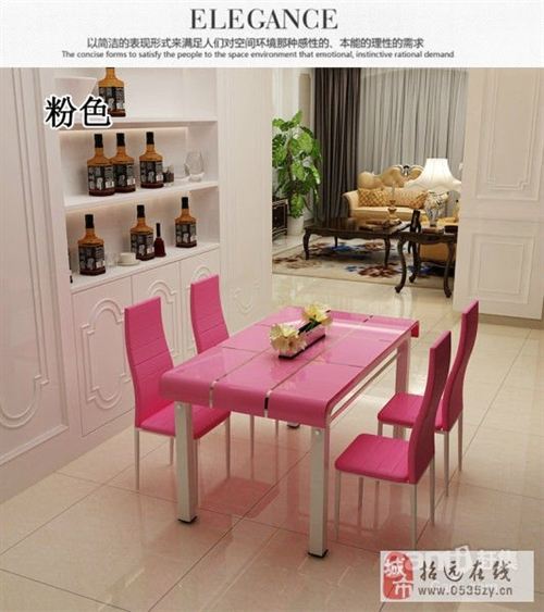 招远售一张全新玻璃钢餐桌