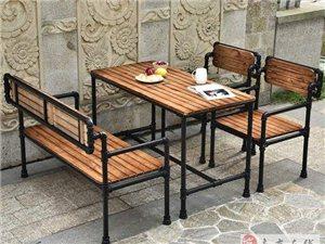销售美式餐厅实木桌椅酒吧咖啡厅休闲桌椅卡座沙发