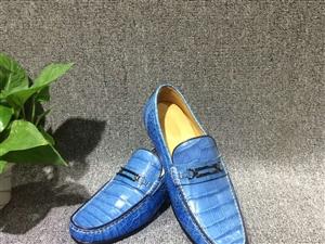 鳄鱼全肚皮五金豆豆鞋完美展示意大利做工更服帖