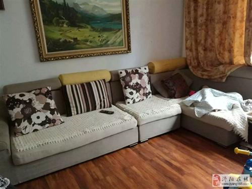 出售9新3米3左貴妃布藝沙發